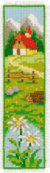 Country Church Bookmark Cross Stitch Kit